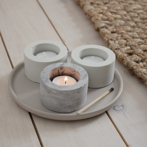 Concrete Tea Light Holders