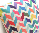 Chevron Linen Cushion Cover - Quirky Bee - 4