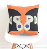 Geometric Monkeys Cushion Cover - Quirky Bee - 1