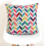 Chevron Linen Cushion Cover - Quirky Bee - 1