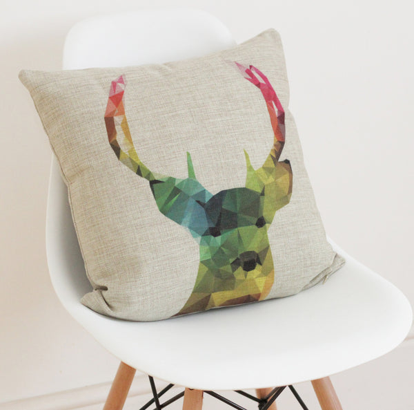 Stag Cushion Cover - Quirky Bee - 3