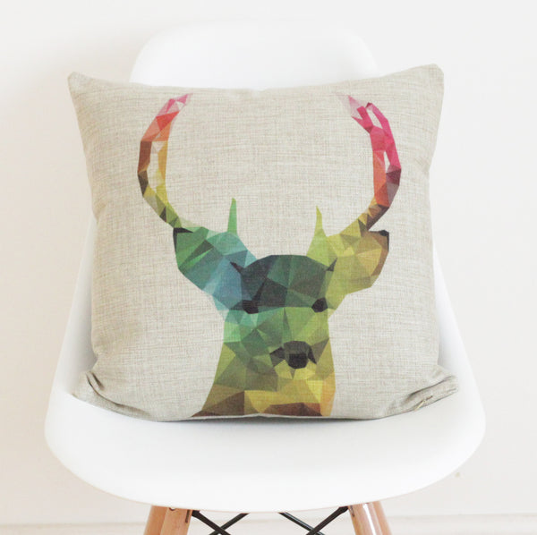 Stag Cushion Cover - Quirky Bee - 1