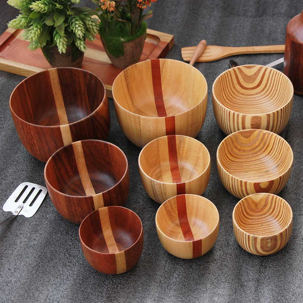 Wooden Bowls | Handmade Decorative Bowls For Serving Food | Soup bowls