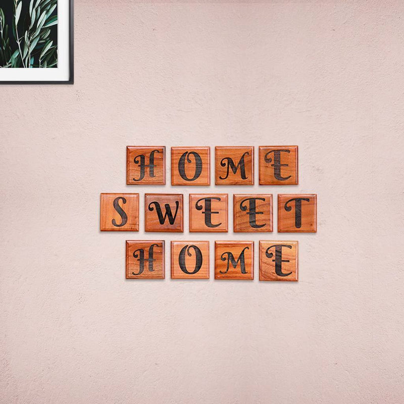 Home Crossword Art and Scrabble Wall Art for Home Decor - Wooden Letter Tiles by Woodgeek Store