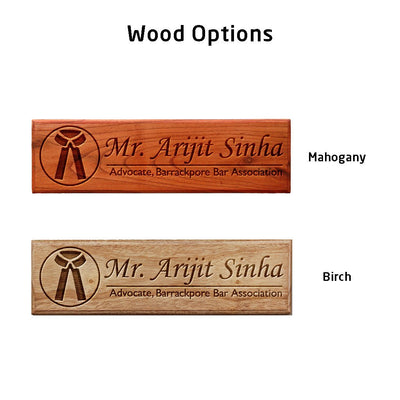 Personalized Wooden Nameplate for Lawyers