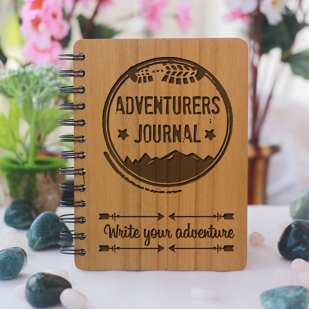 Adventurers Journal - Personalized Wooden Notebook