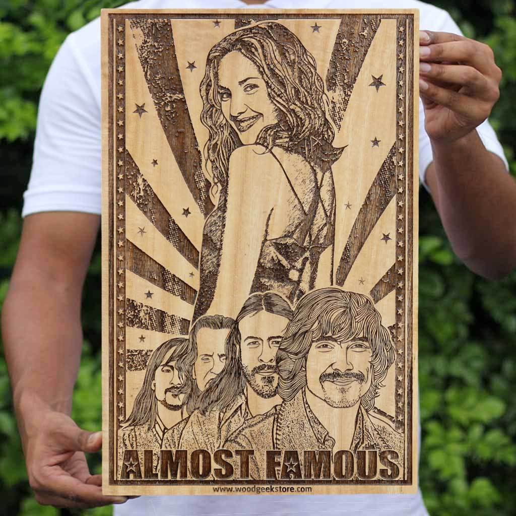 Almost Famous Movie Poster - Wood poster - Wall posters - movie posters - buy posters - Almost famous poster - Woodgeek Store