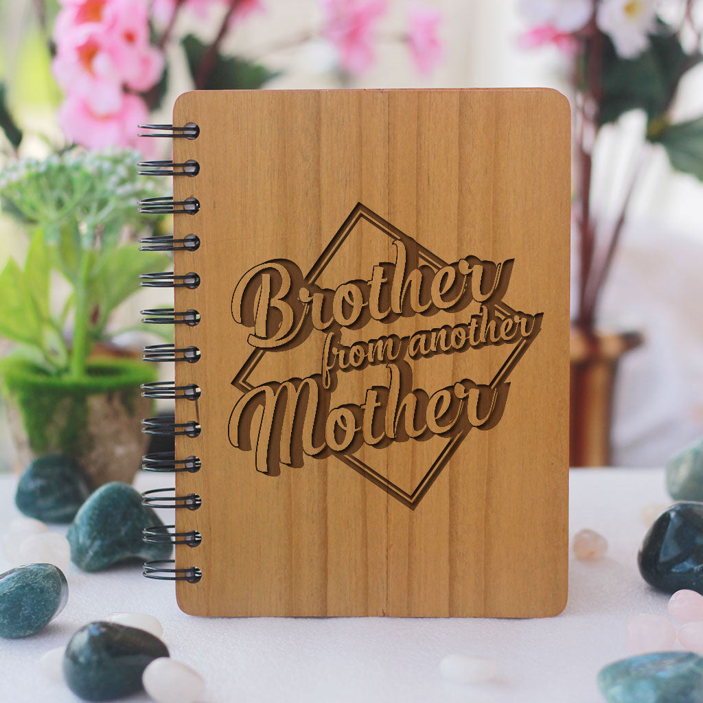Brother from another mother Notebook - Best friend gifts - Gifts for friends - Friendship Gifts - Friendship day Gifts for best friend - Wooden Notebook - Personalized Notebook - Woodgeek StoreBrother from another mother Notebook - Best friend gifts - Gifts for friends - Friendship Gifts - Friendship day Gifts for best friend - Wooden Notebook - Personalized Notebook - Woodgeek Store