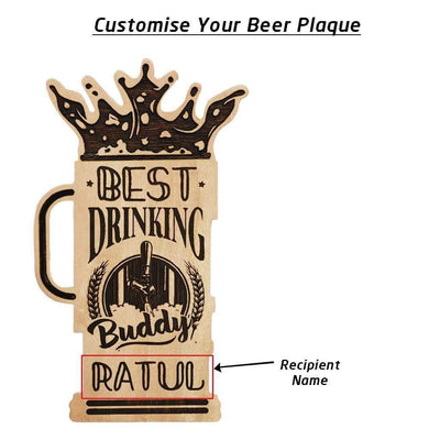 Best Drinking Buddy Engraved Wooden Award Plaque. A Custom Trophy In The Shape Of A Beer Glass. This Personalized Wooden Plaque Is A Funny Gift For Friends. This Funny Award Is The Best Gifts For Beer Lovers. This Personalized Beer Glass Award Makes Great Drinking Gifts. The Best Beer Gifts Ever.