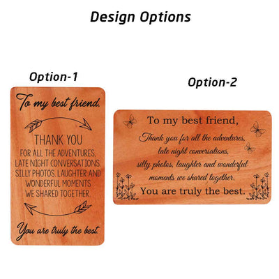 Best Friend Card. Design Options For Wooden Cards For Friends