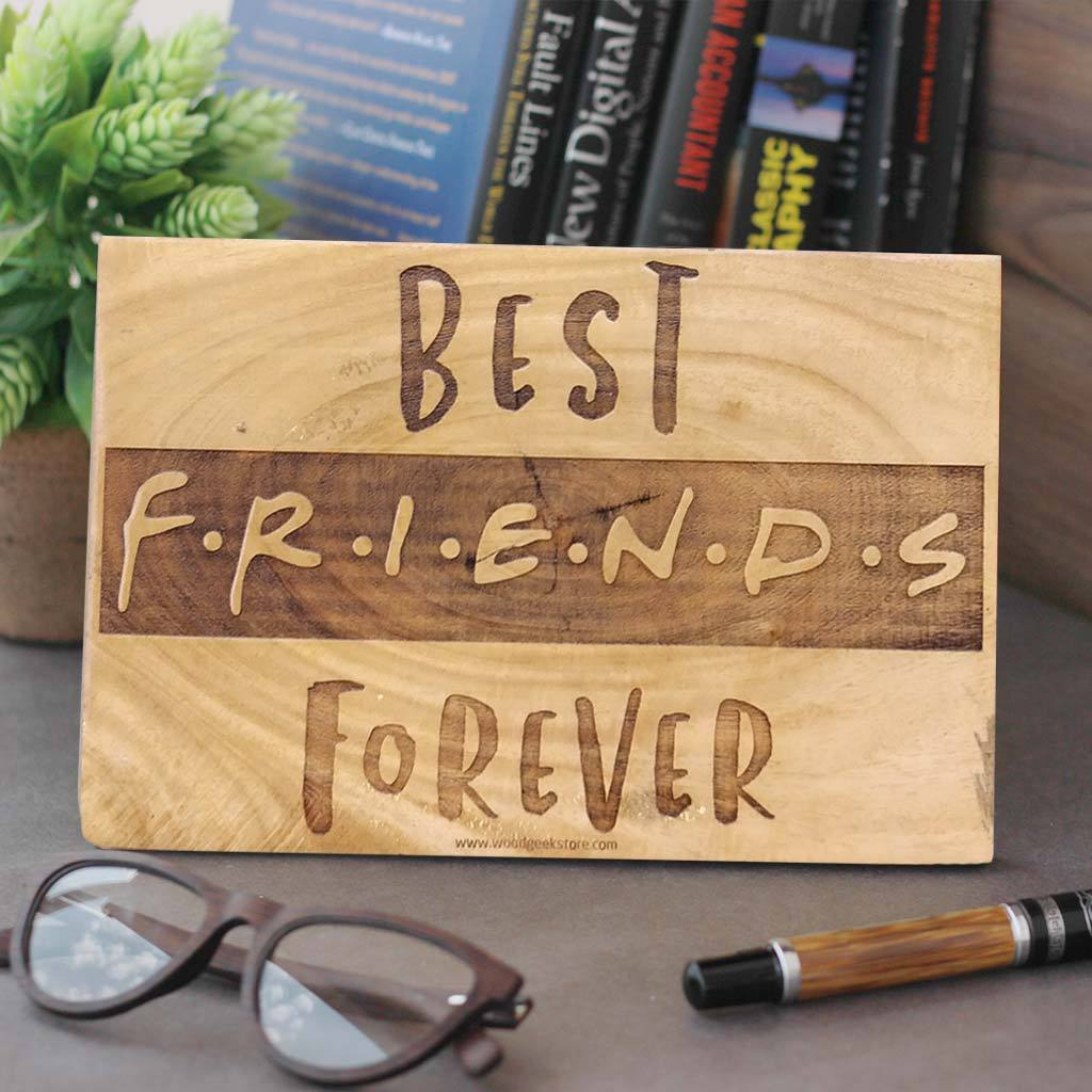 Best Friends Forever Wooden Sign - BFF Gifts - Gifts for Best Friend - Friendship Day Gifts - Woodgeek Store