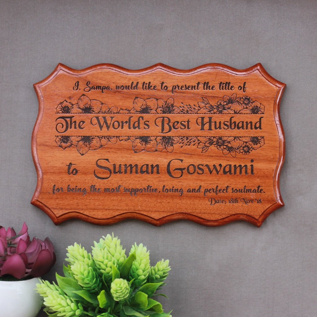 Personalized World's Best Husband Certificate - Greatest Husband Award Certificates - Unique Gifts of Love for Husbands - Anniversary Gift for Husband - Custom Wooden Certificates by Woodgeek Store