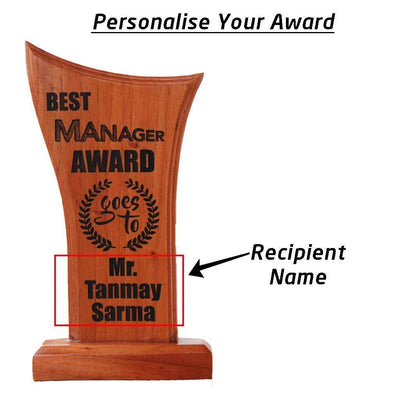 Best Manager Wooden Trophy & Award. Wooden plaques awards trophies make the best thank you gifts for managers.