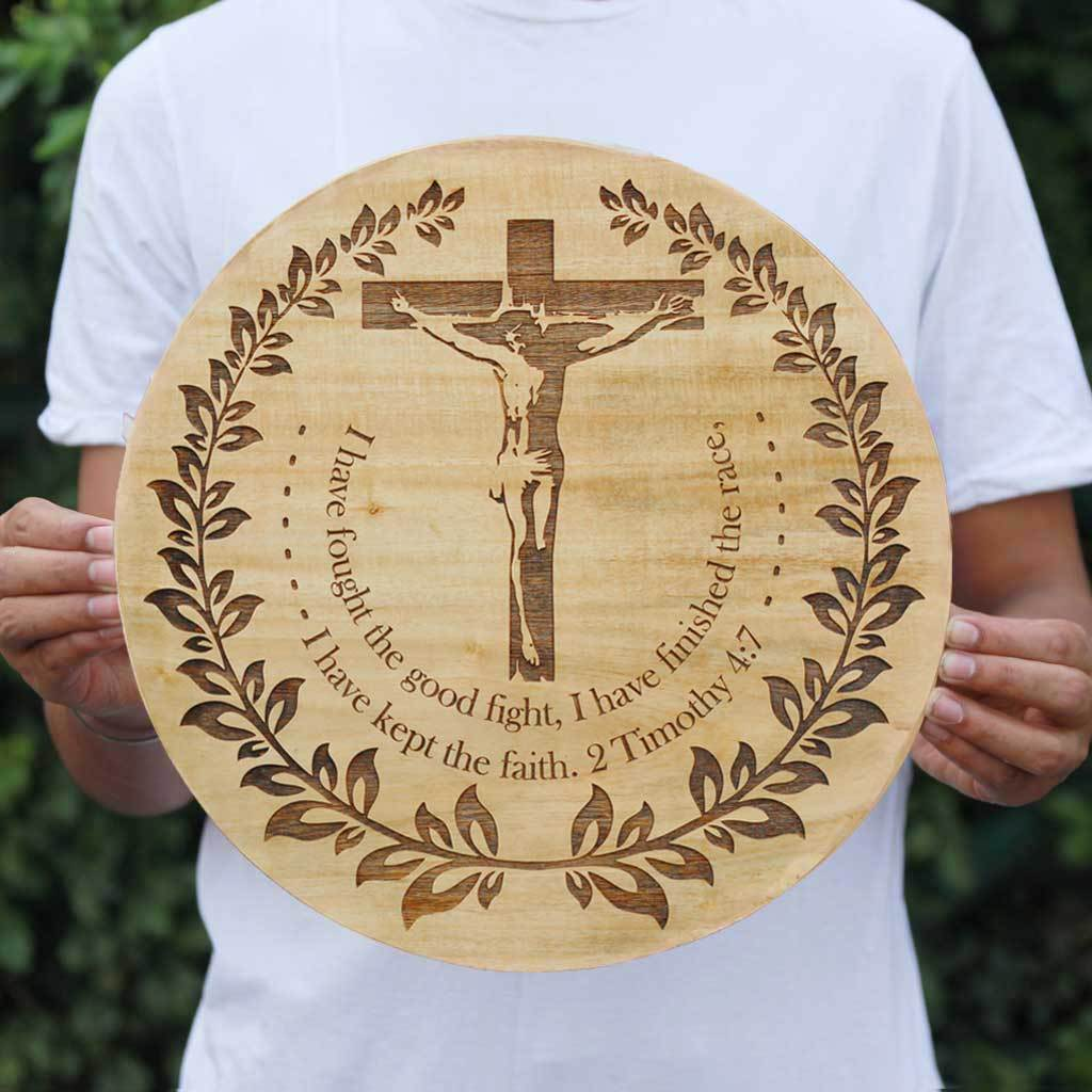 Bible Verse Engraved on Wood - Spiritual Art - Gifts for Christians - Jesus Christ Wooden Poster