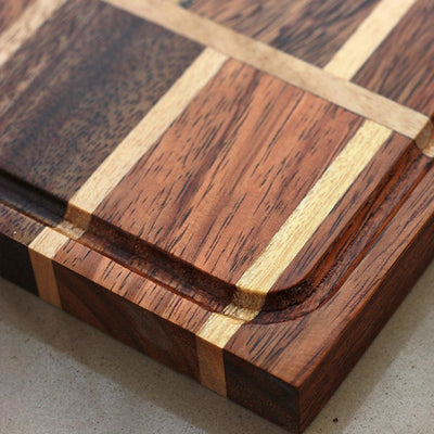 Juice Groove To Avoid Spillage - Brick Pattern Wooden Chopping Board - Wood Cutting Boards - Wood Chopping Block - Butcher Block Wood - Kitchen Cutting Board - Brick Pattern Chopping Board - Best Chopping Board - Hardwood Cutting Boards - Woodgeek Store