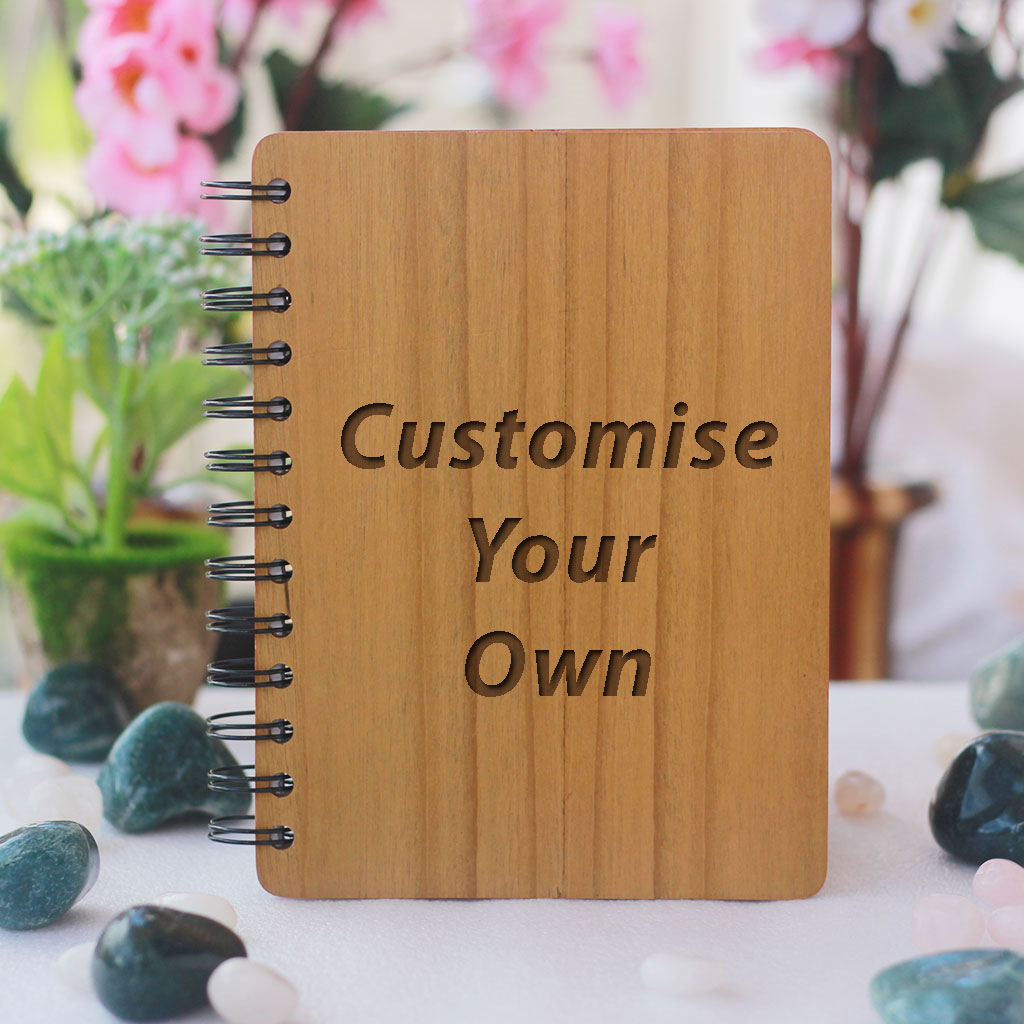 Personalized Wooden Notebook - Notebook Journal - Customize Your Own Notebook With A Photo And Personal Message - Photo Gifts - Photo On Wood - Woodgeek Store