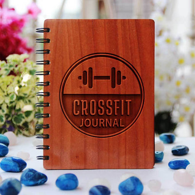 The Crossfit Journal Personalized With Name Or Quote. This Workout Journal is the best fitness gift. An Exercise Journal For Fitness Lovers.