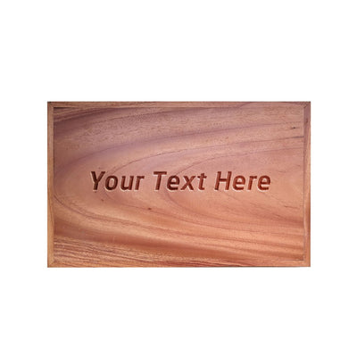 Wooden Rectangular Tray With Handles