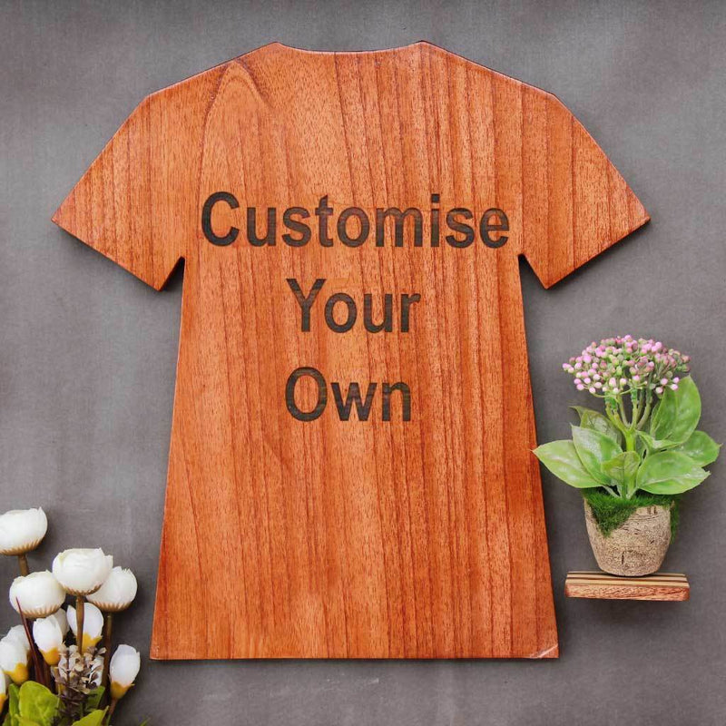 Customise Your Own Wooden Trophies & Awards. Create Your Own Custom Trophies. Make Your Own Sports Award or Fashion Award In The Shape Of A T-shirt.