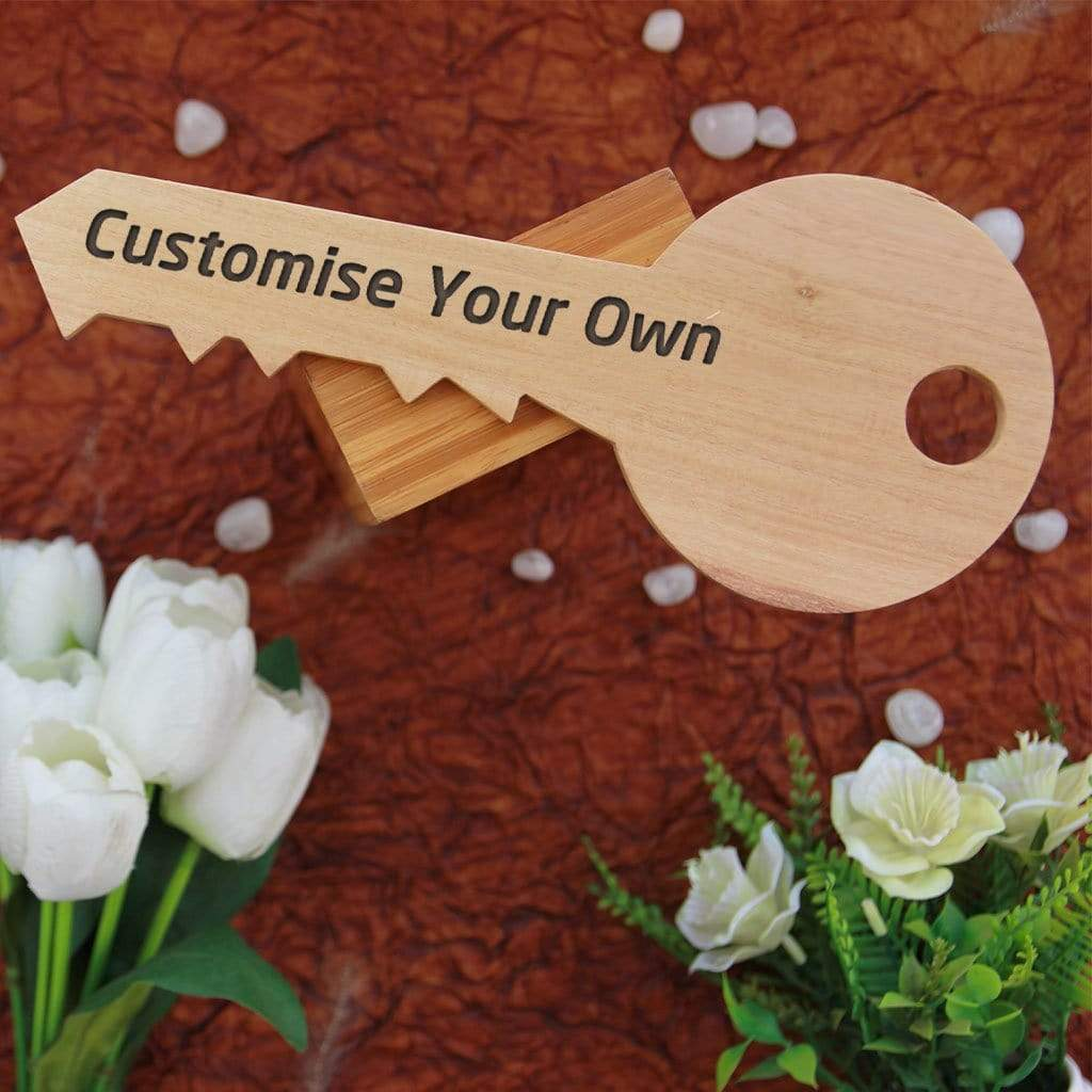 Customize Your Own key-Shaped Wooden Signs. Custom Wood Signs Engraved With Photo. This Wooden Plaque Will Make Great Personalized Gifts, Unique Gifts For Friends, Birthday Gifts, Best Anniversary Gifts.