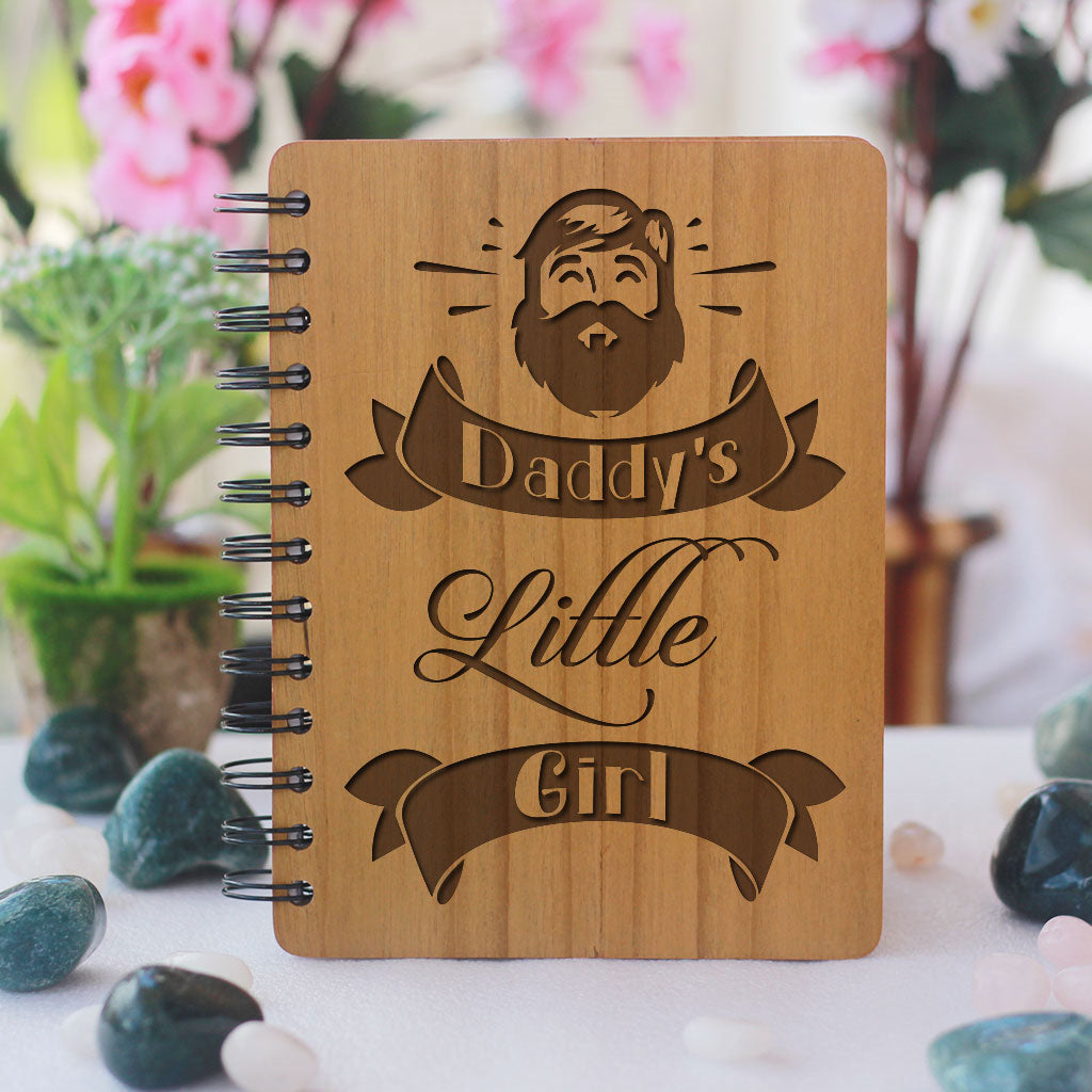 Daddy's Little Girl - bamboo wood notebook woodgeekstore- Gift for Fathers