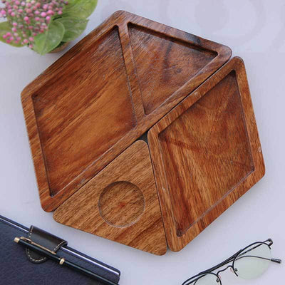 A Wooden Desk Organizer To Decorate Your Office Desk. This Three Piece Desk Organizer Makes Great Office Desk Accessories. These Office Accessories Are Great Gifts For Employees and Colleagues