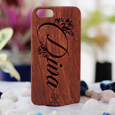 Diva Wood Phone Case - Engraved Phone Case - Fun Wood Phone Cases - Wood phone cases for women