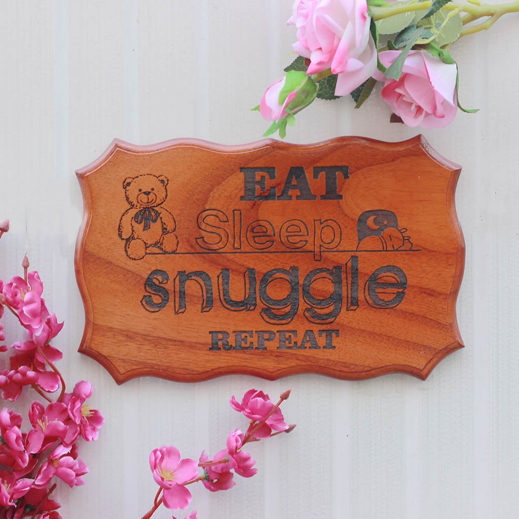 Wooden Baby Nursery Signs - Baby Room Decor - Decorative Wood Signs With Sayings - Gifts for Newborn Babies - Baby Shower Gifts & Presents for Pregnant Mothers