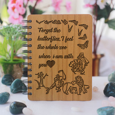 Forget The Butterflies - Personalized Wooden Notebook