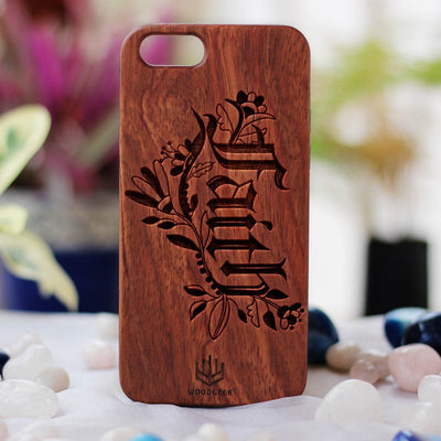 Faith Wooden Phone Case from Woodgeek Store - Rosewood Phone Case - Engraved Phone Case - Wooden Phone Covers - Custom Wood Phone Case - Inspirational Phone Cases