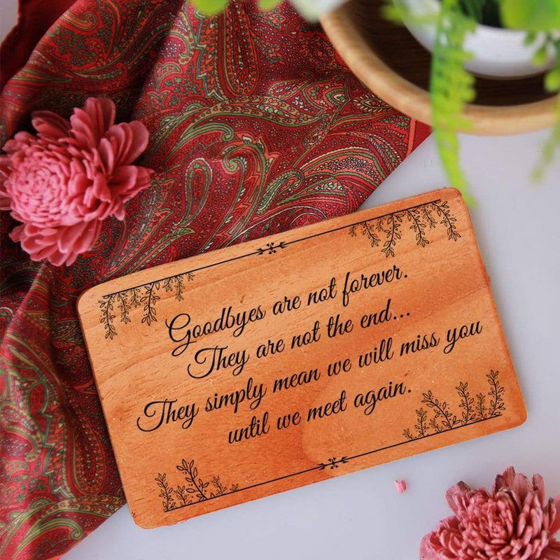 Farewell Card. A Set Of Personalised Wooden Cards Engraved With Farewell Wishes. This farewell greeting card can be customized as farewell card for teacher, farewell cards for friends, farewell cards for colleagues, farewell cards for students, farewell cards for seniors
