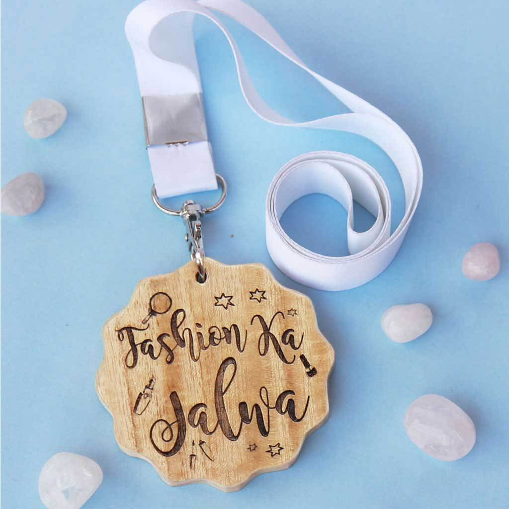 Fashion Ka Jalwa Engraved Medal. A funny medal and award makes is the best gift for fashionable friends. A fashion gift for her.