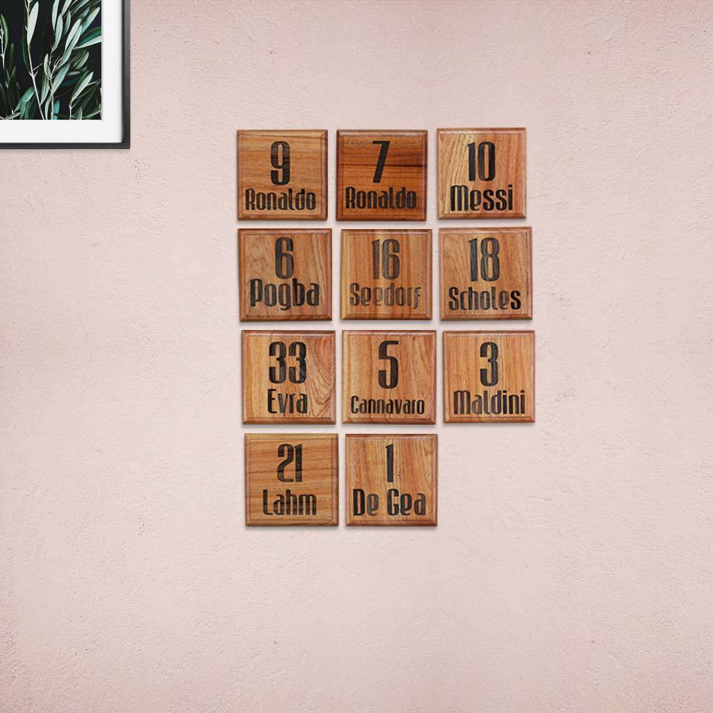 Crossword Wall Art - Wooden Tile Wall Decor for Football Fans - Woodgeek Store