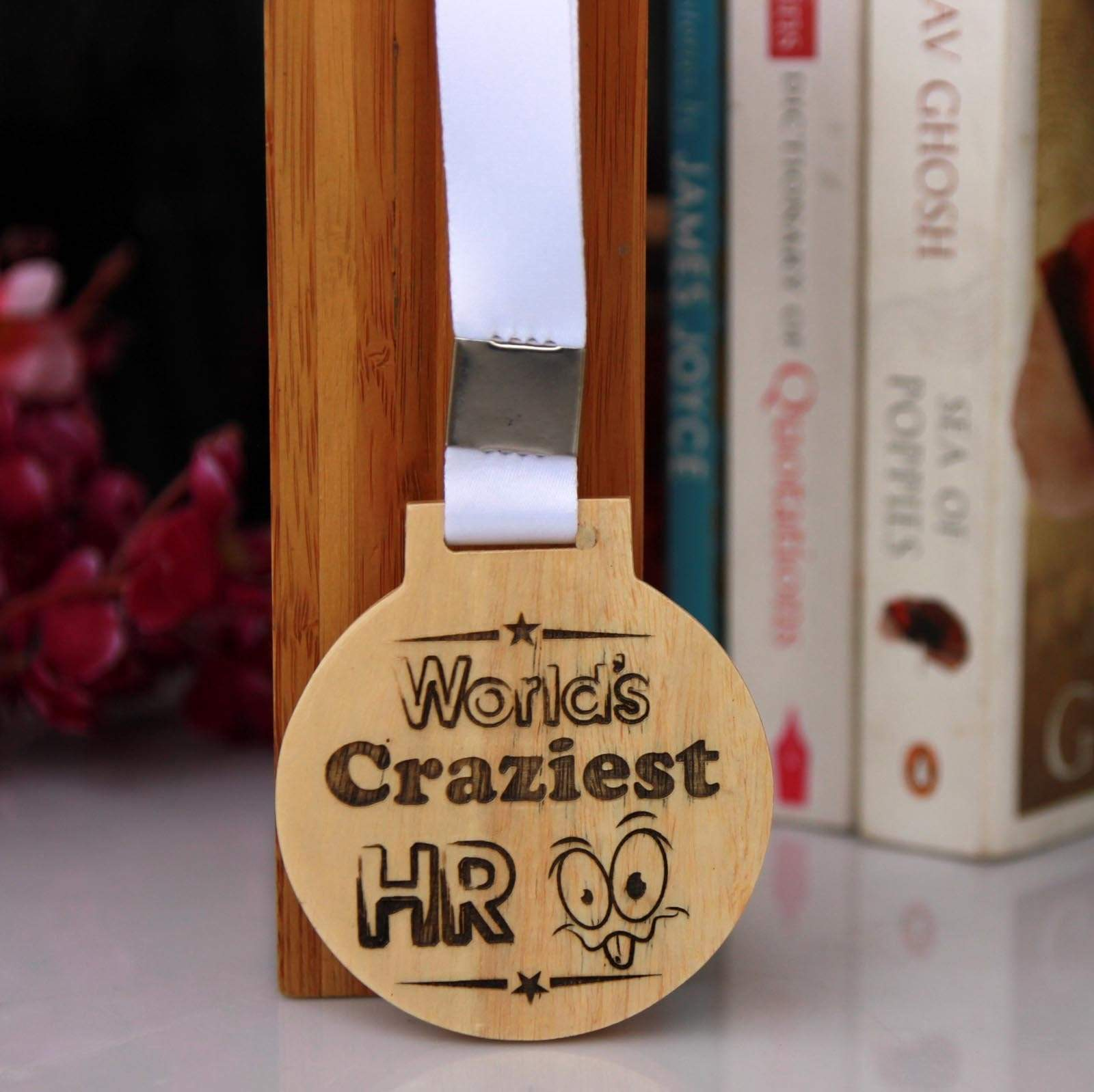 World's Craziest HR Wooden Medal. These custom medals make awesome hr gifts, gifts for hr managers, gifts for hr professionals and funny human resources gifts.