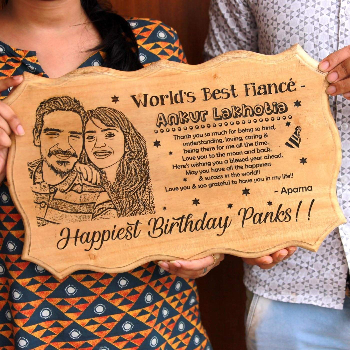World's Best Fiancé Award Certificate. Engrave Photo On Wood With This Wooden Certificate. These Funny Certificates Are Great Gifts For Fiancé. Looking for unique birthday gifts for fiancé? This certificate of recognition is one of the best personalized gifts for him.