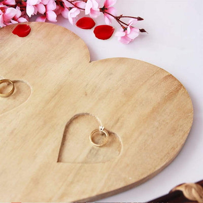 Engagement Ring Dish. Wedding Ring Dish. Wooden Ring Tray. Heart Ring Holder. Heart Shaped Ring Holder.
