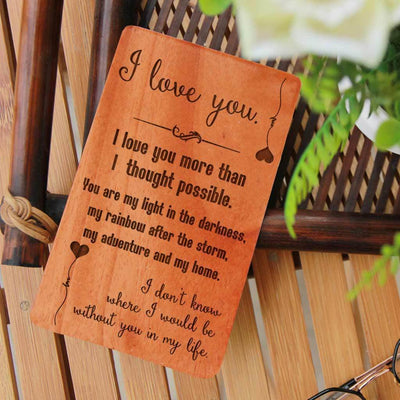Wooden Greeting Cards