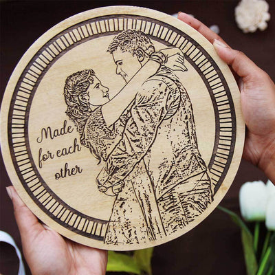 Made For Each Other Personalized Wooden Frame. This Photo On Wood Is One Of The Best wedding Gifts For Couples Or Wedding Gift For Friend