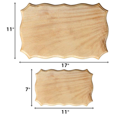 Large Wooden Certificate & Small Wooden Certificate Measurement - Woodgeek Store