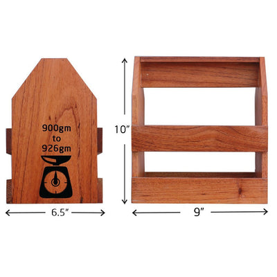 Specifications for Wooden 6 pack beer carrier - Woodgeek Store