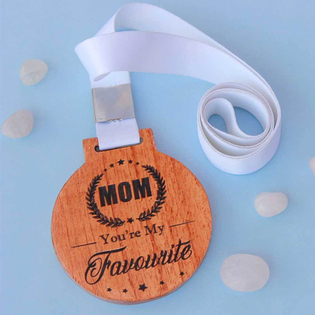 Engraved Medal Telling Mom She Is Your Favourite - This is One Of The Best Gifts For Mom For Her Birthday or Mother's Day