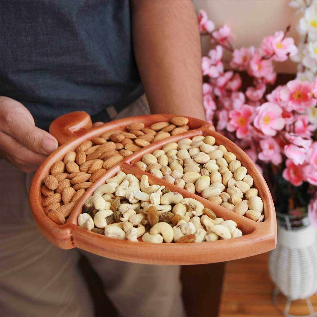 Nuts And Dry Fruits Tray.Gifts for very special occasions- housewarming gifts, wedding gifts, anniversary gifts, or gifts for mom.Home decor and coffee table decor.