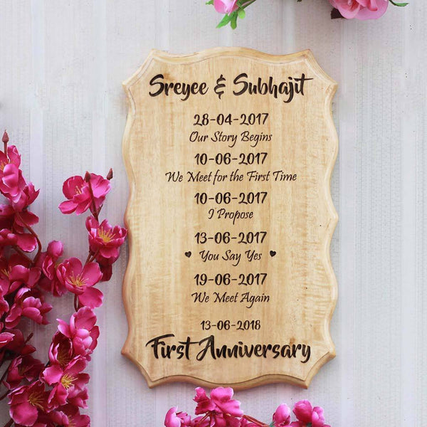 Love Story Countdown to Our Wedding Plaque