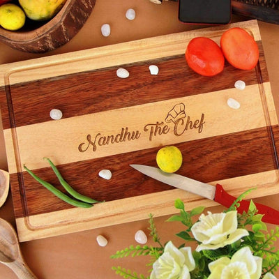 Personalised Wooden Chopping Board With Name