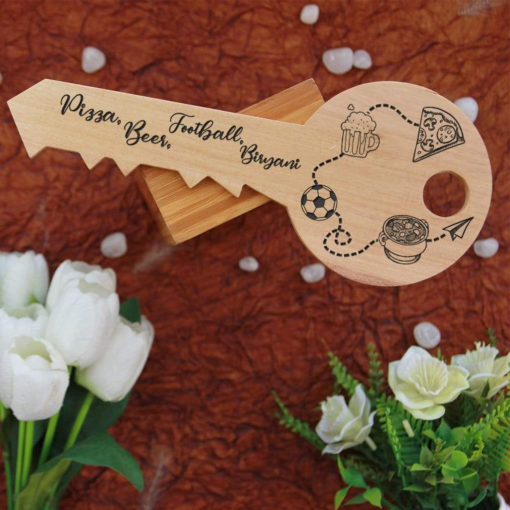 Personalized Key To Heart Wooden Signs In The Shape Of A Key. This photo plaque will make great custom best friend gifts and unique birthday gifts. This wood sign is also a great photo gift.