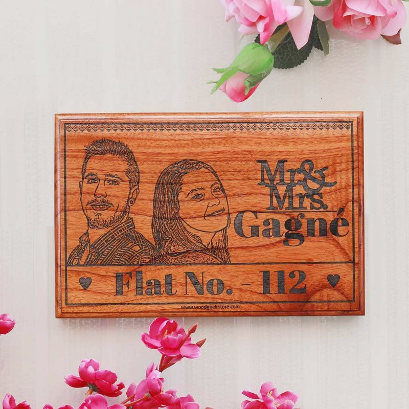 Photo Engraved Wood Sign - Custom Made Birch & Mahogany Wood Sign by Woodgeek Store - Customize Your Own Wooden Plaque