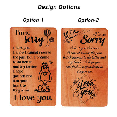 Sorry Card. Personalized I Am Sorry Cards. Apology Card Design Options