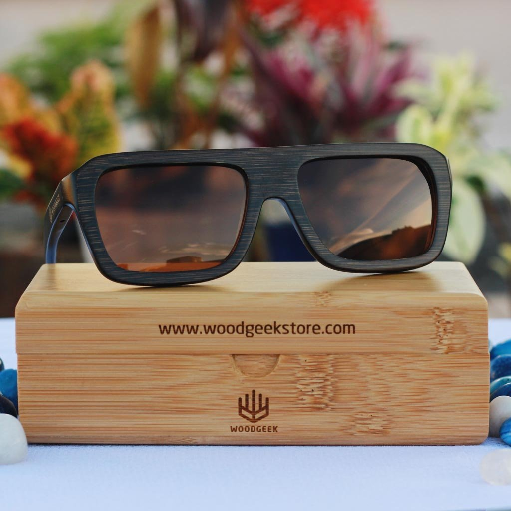 Best wooden sunglasses & Polarized Sunglasses by Woodgeek Store - Water resistand Sunglasses - Eco friendly bamboo sunglasses - Cool Biker sunglasses - Personalized Sunglasses