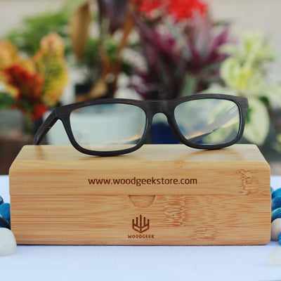 The Old School - rectangular wooden spectacle frames