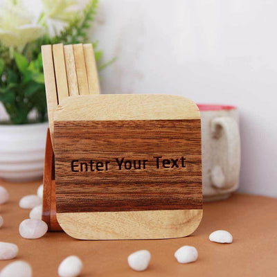 Engraved Wooden Coasters - Custom Coasters - Personalized Coasters With Name